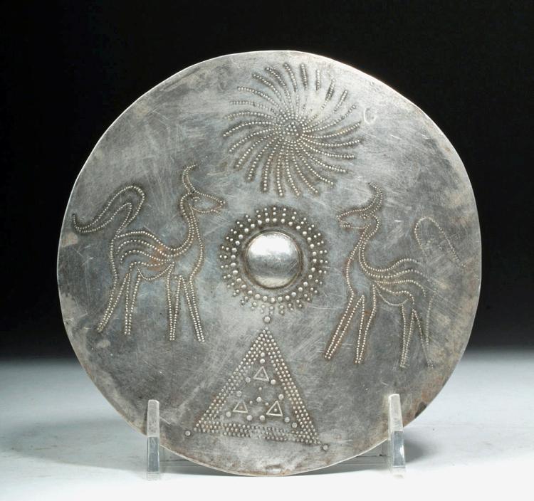 Viking Silver Disc- Sun, Stag, & Triangle Symbols - 45g