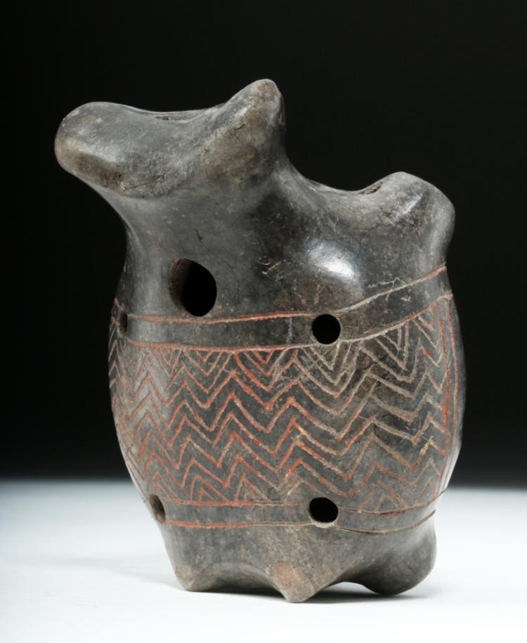 Michoacan Pottery Zoomorphic Ocarina