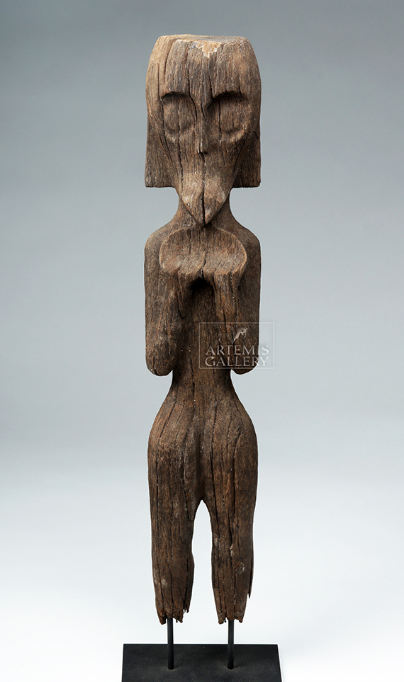 18th C. Dayak Wood Guardian Statue - Radiocarbon Dated