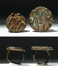 Pair of Central Asian / Luristan Bronze Rings