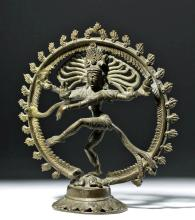 Early 20th C. Indian Bronze Shiva Nataraja