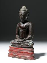 Late 18th C. Thai Bronze Seated Buddha