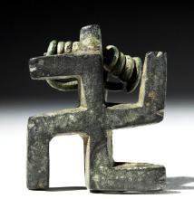 Roman Bronze Brooch - Swastika