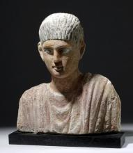 Superb Romano-Egyptian Plaster Mummy Bust