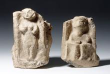 Anatolian Terracotta 2-Part Pillar Altar, ex-Museum