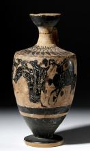 Greek Attic Black-Figure Pottery Lekythos