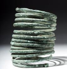 European Bronze Spiral Armband