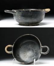 Greek Blackware Drinking Cup - Incised Interior