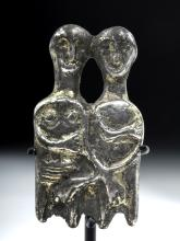 Post-Roman Gilded Silver Erotic Marriage Amulet