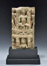 10th C. India Rajasthan Stone Carving of Nude Males