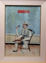 19th C. Indian Mughal Painting Prince, ex-Butterfields