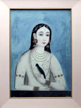19th C. Mughal Painting of Princess, ex-Butterfields