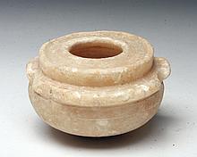 Bactrian Alabaster Storage Jar, Ex-Christie's