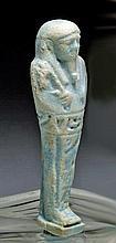 Egyptian Faience Ushabti, Late Kingdom