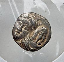 Greek Istros Silver Diobol Coin