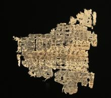 Ancient Egyptian Papyrus Fragment w/ Demotic Script
