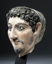 Ptolemaic / Romano Egyptian Gypsum Mummy Mask