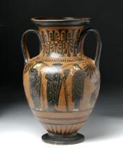 Greek Attic Black Figure Amphora w/ Satyrs