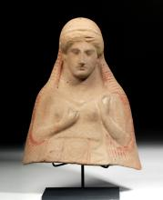 Greek Terracotta Protome Bust of a Goddess Ex-Sotheby's