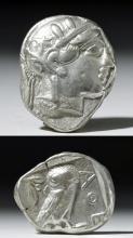 Ancient Greek Athena Silver Tetradrachm
