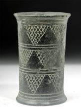 Bactrian Chlorite Schist Beaker, Cylindrical Form