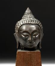 Gorgeous 17th C. Thai Bronze Buddha Head