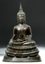 19th C. Thai Rattanakosin Period Bronze Buddha