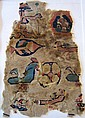 Lg Egyptian Coptic Polychrome Textile Fragment