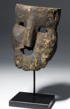 18th C. Citipati Indian Wooden Masks - Momento Mori