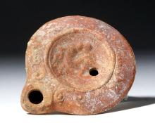 Roman Terracotta Oil Lamp - Erotic