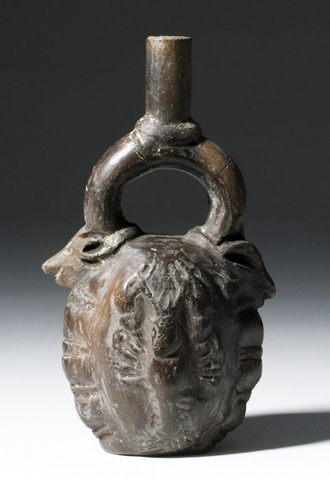 Post Conquest Chimu Stirrup Jar - Scorpions