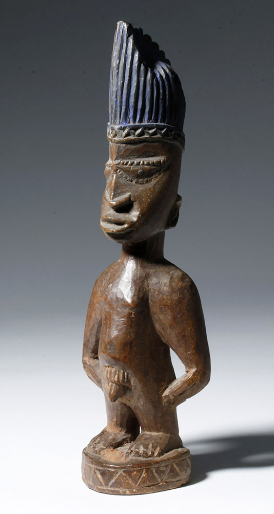 Early 20th C. Yoruba Ibeji Carved Wood Male Figure