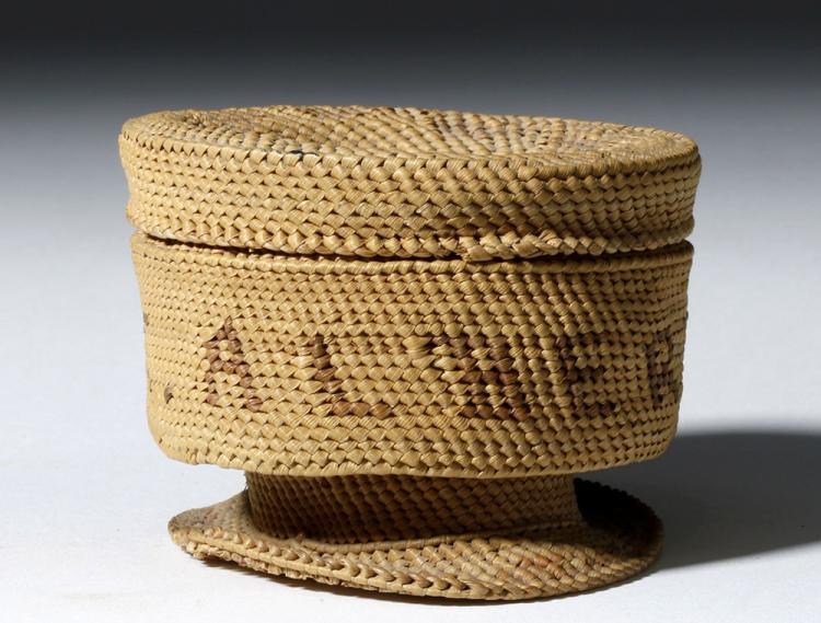 Early 20th C. Pacific Northwest Indian Lidded Basket
