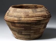 Native American Coiled Basket - Papago