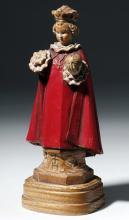 Early 20th C. Italian Painted Wood Figure of Saint