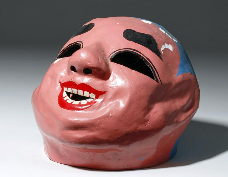 Large Japanese Papier Mache Festival Mask