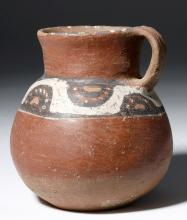 Pre-Columbian Arica Polychrome Pottery Pitcher - Chile