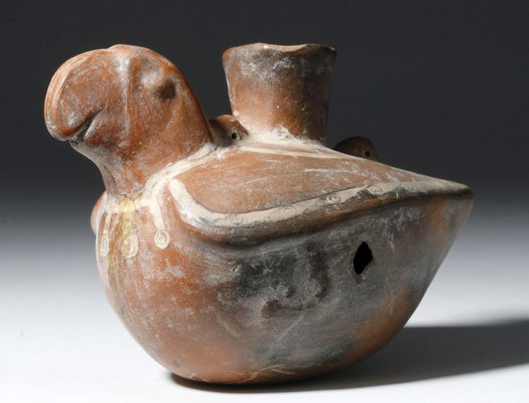 Delightful Chimu Pottery Jar in Bird Form
