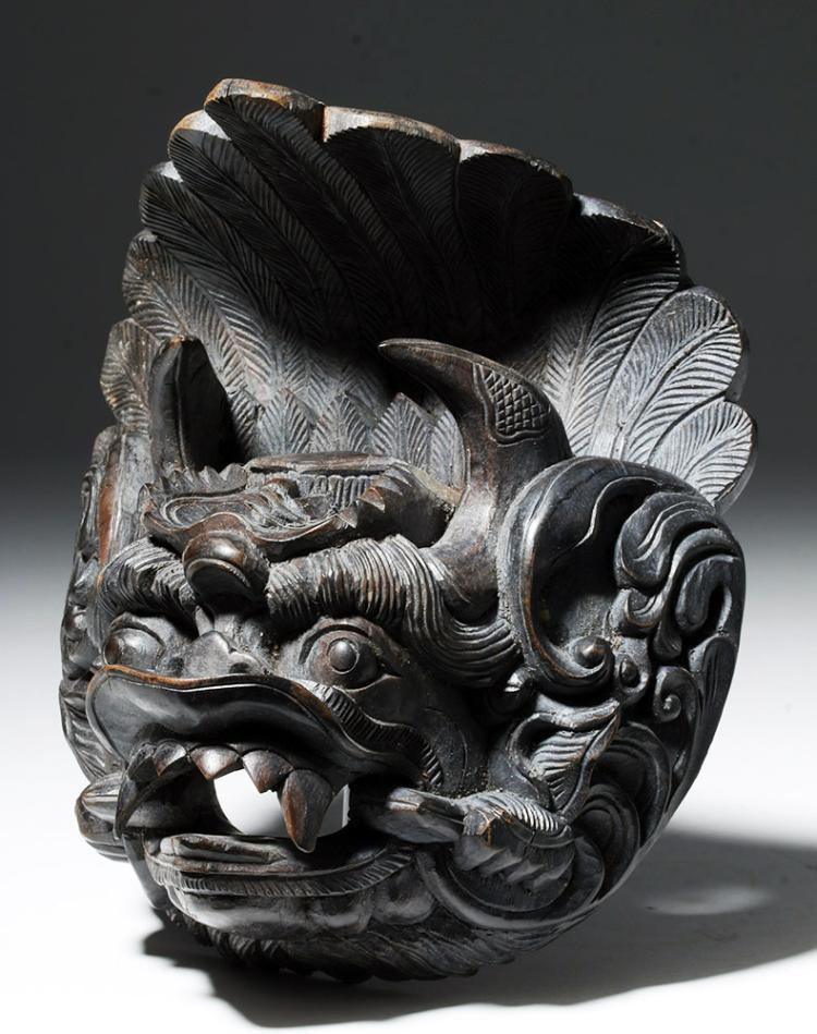 19th C. Indonesian Bali Mask - Fierce Animal