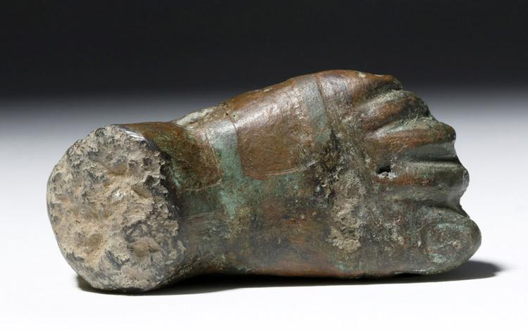 Miniature Roman Bronze Sandled Foot