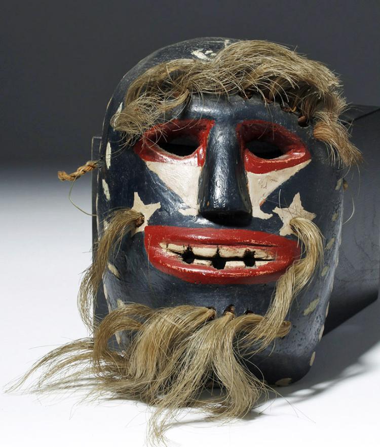 Yaqui Indian Wooden Pascola Dance Mask