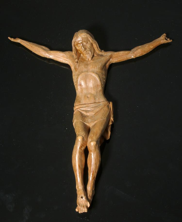 Early 20thC. European Carved Wood Cristo