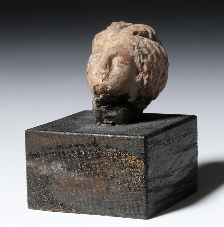 Tanagra Greek Pottery Head of Female