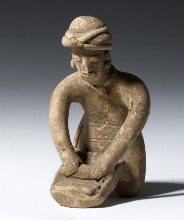 Colima Pottery Flat - Woman & Metate
