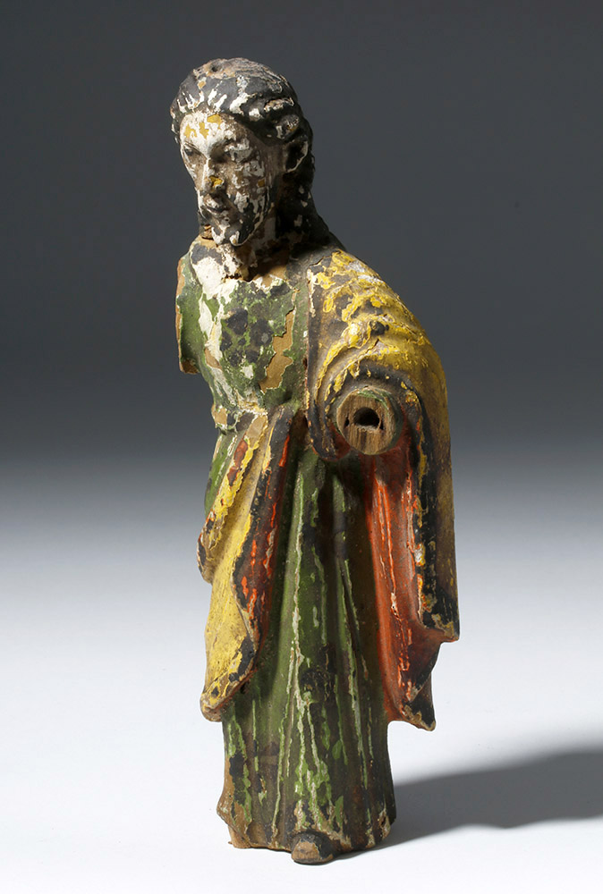 Early Mexican Carved, Polychrome Wooden St. Joseph