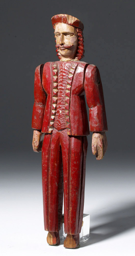 20th C. Guatemalan Painted Wood Articulated Soldier