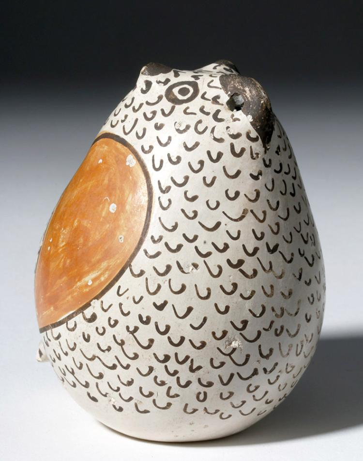 Adorable Acoma Pottery Owl - Signed J. (Juana) Leno