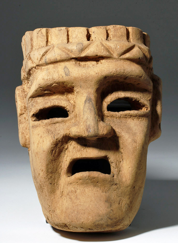1960s Mexican Oaxacan Wood Festival Mask - Monster