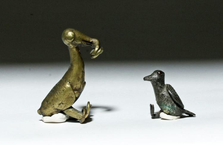 19th C. African Ashanti Gold Weights - Birds (pr)