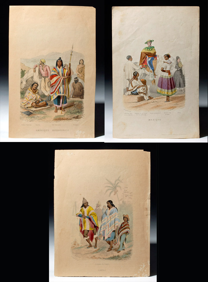 19th C. Colored Engravings, South American Subjects